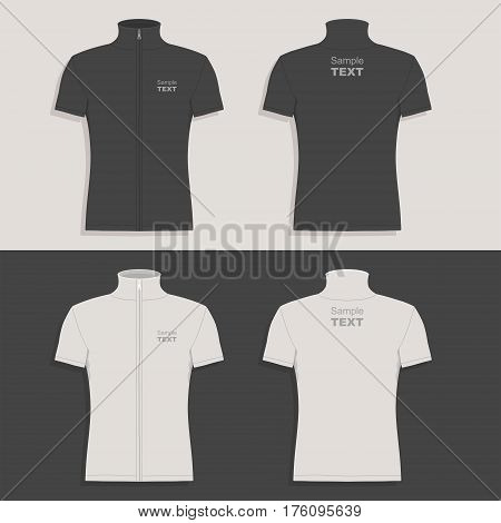 Men's t-shirt design template (front view, back and side views)