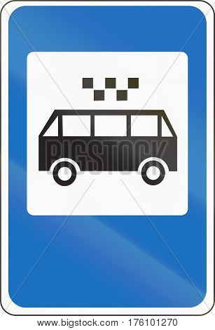 Belarusian Road Sign - An Express Bus Route Stop