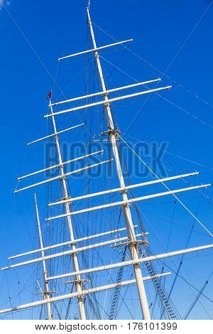Ropes And Masts On A Ship