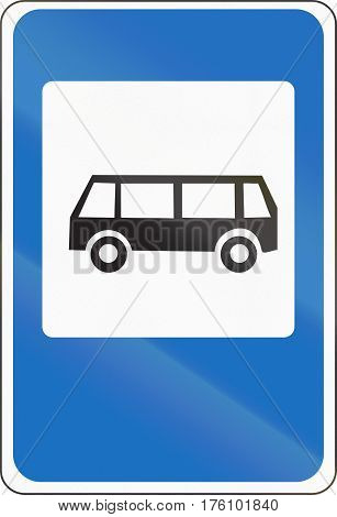 Belarusian Road Sign - A Bus Stop
