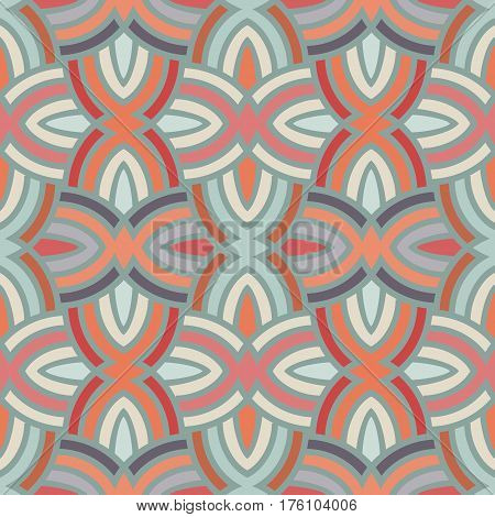 Seamless abstract reto pattern can be used for wallpaper, website background, textile printing. Modern monochrome geometric texture.
