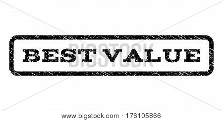 Best Value watermark stamp. Text tag inside rounded rectangle with grunge design style. Rubber seal stamp with unclean texture. Vector black ink imprint on a white background.