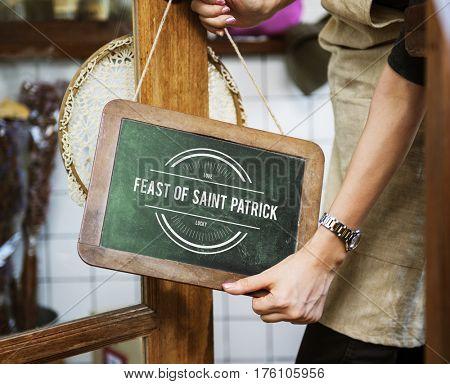Saint Patrick Day Feast Concept