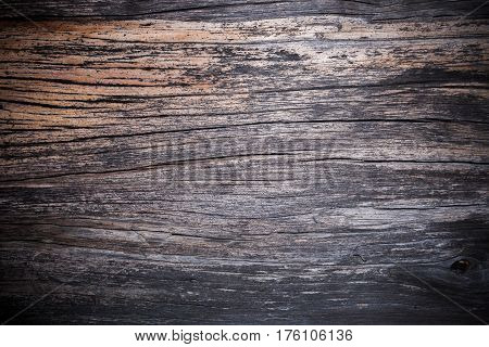 Wooden background. Old shabby cracked and painted from time wood surface.
