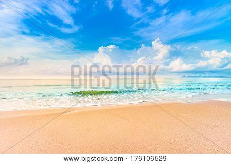 Beautiful Sunrise On The Beach In Summer Relaxing Time