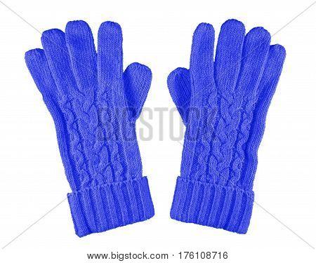 Woolen Gloves Isolated - Dark Blue