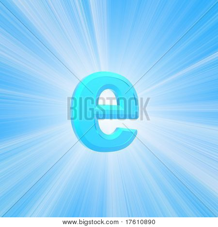 internet symbol isolated in white background