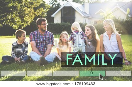 Family Happiness Memorable Outdoors Word Click