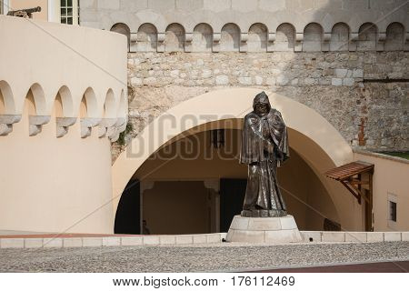 Statue Of Francesco Grimaldi In Monaco