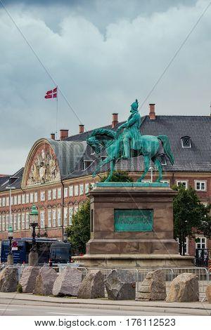 Equestrian Statue Of Frederick Vii In Copenhagen, Denmark