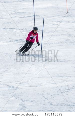 Dorit Clasing During The Ski National Championships