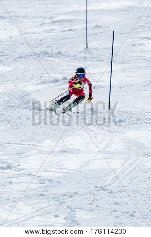 Manuel Ramos During The Ski National Championships