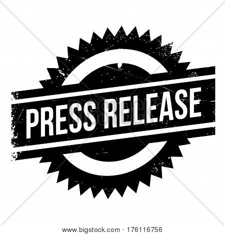 Press release stamp. Grunge design with dust scratches. Effects can be easily removed for a clean, crisp look. Color is easily changed.