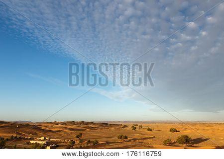 The berber camp in Sahara desert, Morocco
