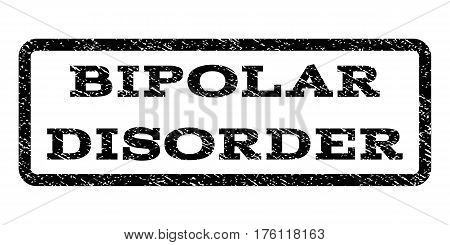 Bipolar Disorder watermark stamp. Text tag inside rounded rectangle with grunge design style. Rubber seal stamp with dust texture. Vector black ink imprint on a white background.