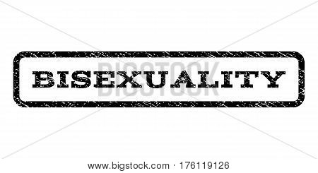Bisexuality watermark stamp. Text tag inside rounded rectangle with grunge design style. Rubber seal stamp with unclean texture. Vector black ink imprint on a white background.