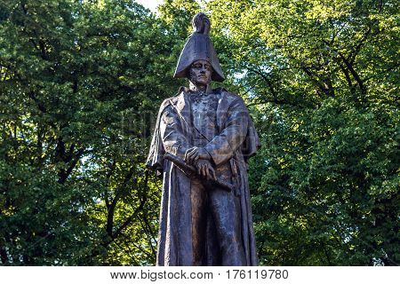 Prince Barclay de Tolly statue in Riga Latvia