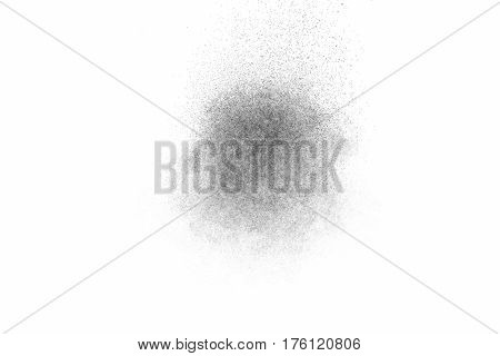 Freeze Motion Of Black Particles.