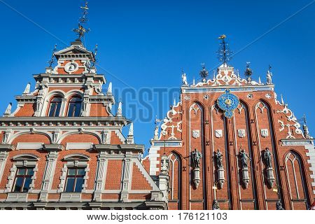 House of Blackheads on Old City of Riga Latvia