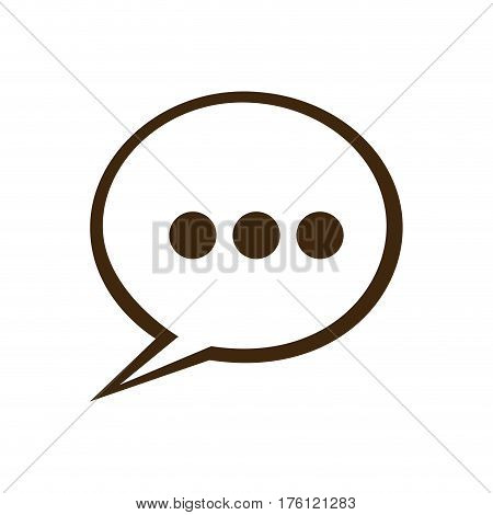 silhouette speech bubble with suspending points icon vector illustration