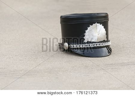 The marching band hat is called a shako.