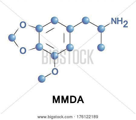 MMDA, methoxy methylenedioxyamphetamine methoxy MDA, is a psychedelic and entactogen drug of the amphetamine class. It is an analogue of lophophine, MDA, and MDMA