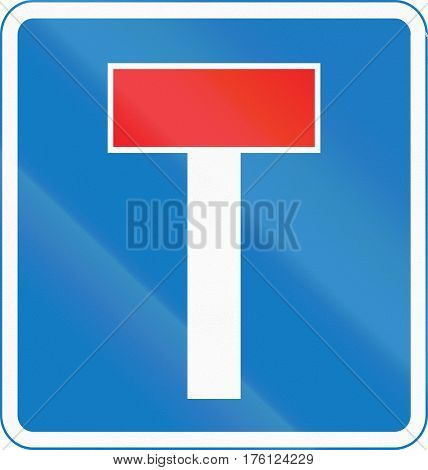 Road Sign Used In Cyprus - No Through Road