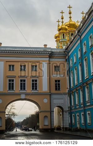 Church In  Tsarskoe Selo, Pushkin, Saint Petersburg