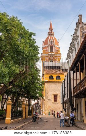 Cartagena Cathedral Street View