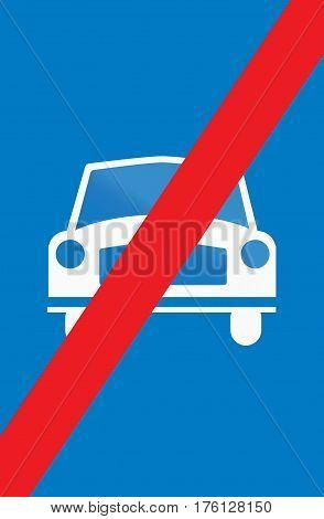 Cyprian Regulatory Road Sign - End Of Main Highway