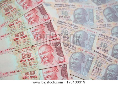 Collection of the Indian banknotes