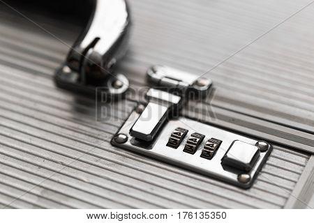 Metal Case With Combination Lock. Secret