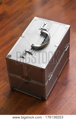 Metal Case With Combination Lock. Secret