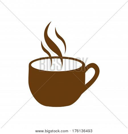 brown cup coffee with smoke vector illustration