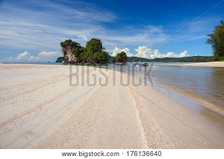 White sand beach on the Andaman Sea