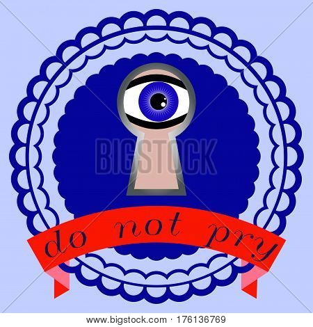 Logo not pry. The eye looks like a keyhole.