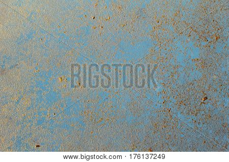 Decorative trim blue gold background texture, abstract architectural background