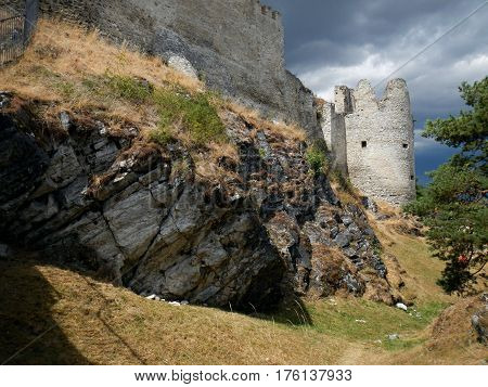 ruins of the Rabi medieval castle -Czech republic, Pilsen region
