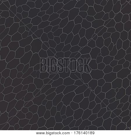 Abstract voronoi pattern on dark gray background. 3d rendering