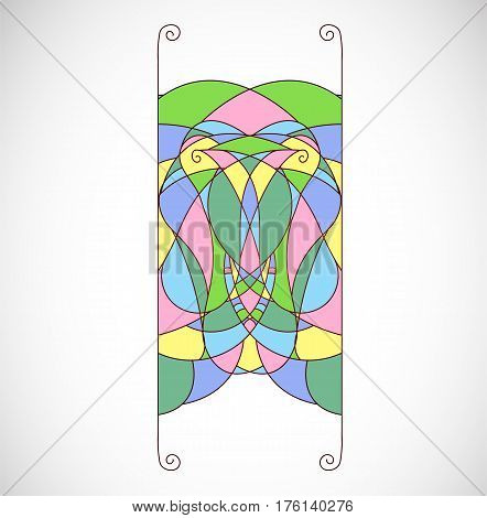 Vector illustration with abstract colorful shape element for ornament.