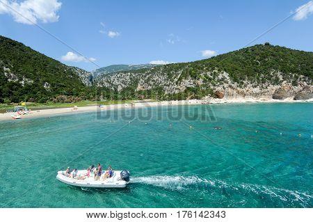 Cala Luna Beach In Orosei Bay On Sardinia, Italy