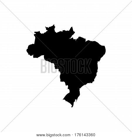 Map of Brazil. High detailed vector silhouette