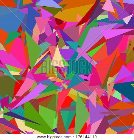 Abstract Triangle Geometrical Multicolored Background, Colorful Illustration