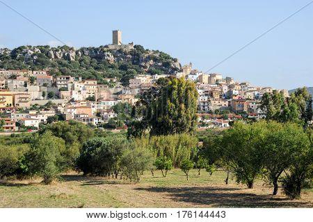 The Village Of Posada On The Island Of Sardinia