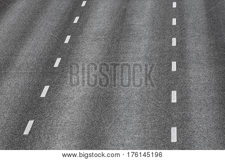 Road Texture With Two Dashed White Stripe