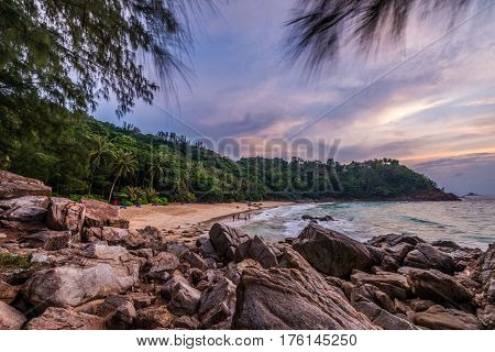 Landscape from Phuket View Point at Banana Beach Located in Choeng Thale Thalang Phuket Province Thailand.