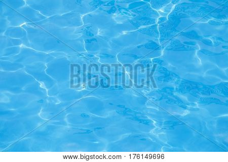 Blue water in the swimming pool as background