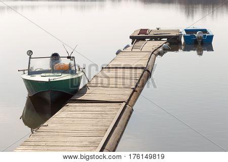 Lifeboat Moored On A River Pantone Berth