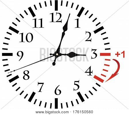 Isolated Electronic Wall Clock.