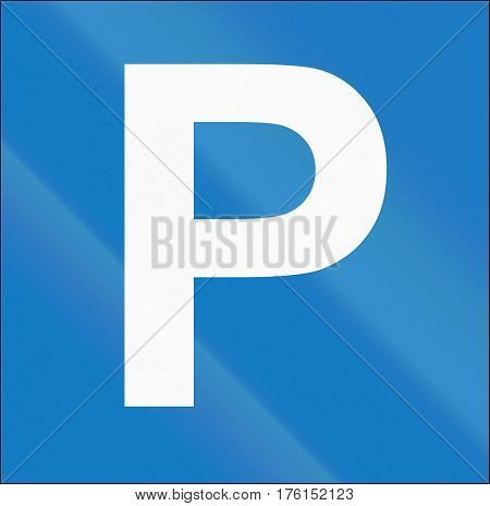 Cyprian Regulatory Road Sign - Parking Place
